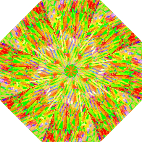 Cheerful Phantasmagoric Pattern Hook Handle Umbrellas (Large)