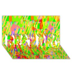 Cheerful Phantasmagoric Pattern BEST BRO 3D Greeting Card (8x4)