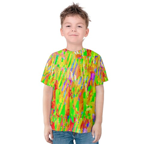 Cheerful Phantasmagoric Pattern Kids  Cotton Tee