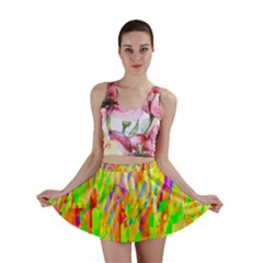 Cheerful Phantasmagoric Pattern Mini Skirt