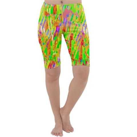 Cheerful Phantasmagoric Pattern Cropped Leggings