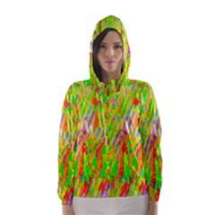 Cheerful Phantasmagoric Pattern Hooded Wind Breaker (Women)