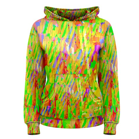 Cheerful Phantasmagoric Pattern Women s Pullover Hoodie