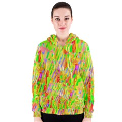 Cheerful Phantasmagoric Pattern Women s Zipper Hoodie