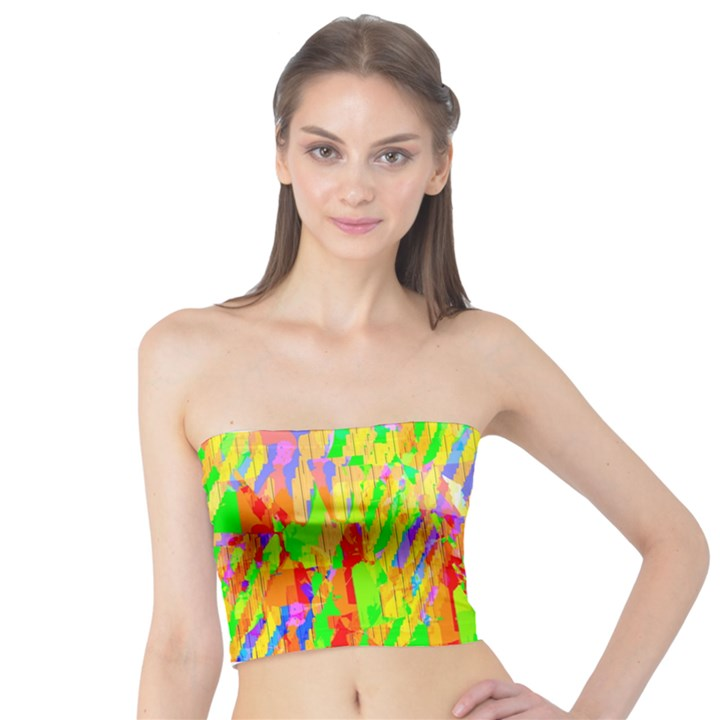 Cheerful Phantasmagoric Pattern Tube Top