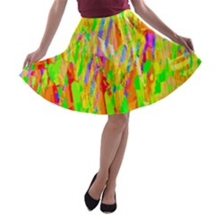 Cheerful Phantasmagoric Pattern A-line Skater Skirt