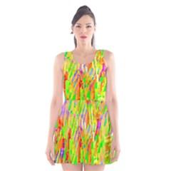 Cheerful Phantasmagoric Pattern Scoop Neck Skater Dress