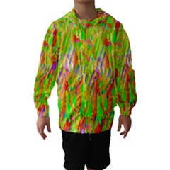 Cheerful Phantasmagoric Pattern Hooded Wind Breaker (Kids)