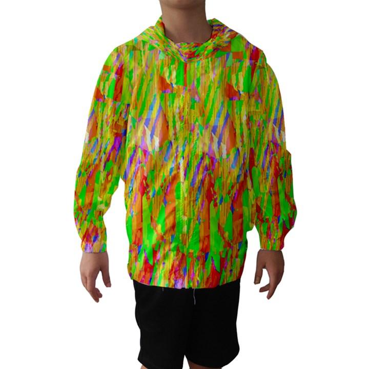 Cheerful Phantasmagoric Pattern Hooded Wind Breaker (Kids)