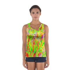 Cheerful Phantasmagoric Pattern Women s Sport Tank Top