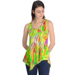 Cheerful Phantasmagoric Pattern Sleeveless Tunic