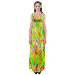 Cheerful Phantasmagoric Pattern Empire Waist Maxi Dress