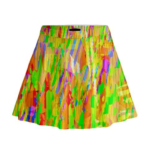 Cheerful Phantasmagoric Pattern Mini Flare Skirt