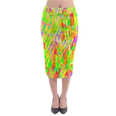 Cheerful Phantasmagoric Pattern Midi Pencil Skirt