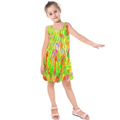 Cheerful Phantasmagoric Pattern Kids  Sleeveless Dress