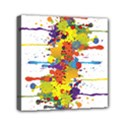 Crazy Multicolored Double Running Splashes Mini Canvas 6  x 6  View1