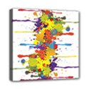 Crazy Multicolored Double Running Splashes Mini Canvas 8  x 8  View1