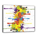Crazy Multicolored Double Running Splashes Canvas 20  x 16  View1