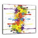 Crazy Multicolored Double Running Splashes Canvas 24  x 20  View1