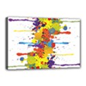 Crazy Multicolored Double Running Splashes Canvas 18  x 12  View1
