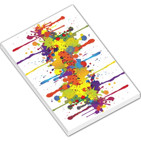 Crazy Multicolored Double Running Splashes Large Memo Pads