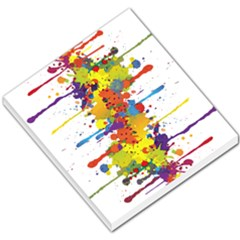 Crazy Multicolored Double Running Splashes Small Memo Pads