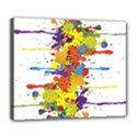 Crazy Multicolored Double Running Splashes Deluxe Canvas 24  x 20   View1