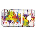 Crazy Multicolored Double Running Splashes HTC Evo 4G LTE Hardshell Case  View1