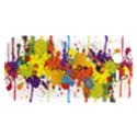 Crazy Multicolored Double Running Splashes HTC Desire S Hardshell Case View1