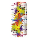 Crazy Multicolored Double Running Splashes HTC Desire S Hardshell Case View3