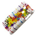 Crazy Multicolored Double Running Splashes Samsung S3350 Hardshell Case View4
