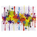 Crazy Multicolored Double Running Splashes Apple iPad 2 Hardshell Case (Compatible with Smart Cover) View1