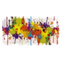 Crazy Multicolored Double Running Splashes HTC One V Hardshell Case View1