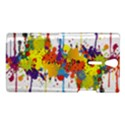 Crazy Multicolored Double Running Splashes Sony Xperia S View1