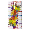 Crazy Multicolored Double Running Splashes Sony Xperia S View3