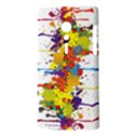 Crazy Multicolored Double Running Splashes Sony Xperia ion View3