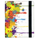 Crazy Multicolored Double Running Splashes Kindle Fire (1st Gen) Flip Case View2