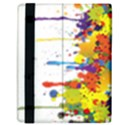 Crazy Multicolored Double Running Splashes Kindle Fire (1st Gen) Flip Case View3