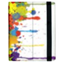 Crazy Multicolored Double Running Splashes Apple iPad 2 Flip Case View2