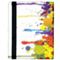 Crazy Multicolored Double Running Splashes Apple iPad 3/4 Flip Case View3