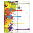 Crazy Multicolored Double Running Splashes Apple iPad Mini Flip Case View1