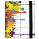 Crazy Multicolored Double Running Splashes Apple iPad Mini Flip Case View2