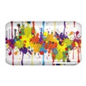 Crazy Multicolored Double Running Splashes Apple iPhone 3G/3GS Hardshell Case (PC+Silicone) View1