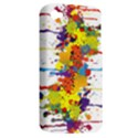 Crazy Multicolored Double Running Splashes Apple iPhone 4/4S Hardshell Case (PC+Silicone) View2