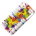 Crazy Multicolored Double Running Splashes Apple iPhone 4/4S Hardshell Case (PC+Silicone) View4