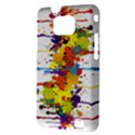 Crazy Multicolored Double Running Splashes Samsung Galaxy S II i9100 Hardshell Case (PC+Silicone) View3