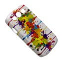 Crazy Multicolored Double Running Splashes Samsung Galaxy S III Classic Hardshell Case (PC+Silicone) View5