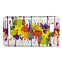 Crazy Multicolored Double Running Splashes HTC One SU T528W Hardshell Case View1