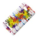 Crazy Multicolored Double Running Splashes HTC One SU T528W Hardshell Case View4