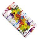 Crazy Multicolored Double Running Splashes HTC One SU T528W Hardshell Case View5
